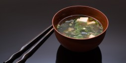 Miso soup and chopsticks